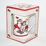 ロイヤルアーデン クリスマスマグカップ メインクーンB 37211