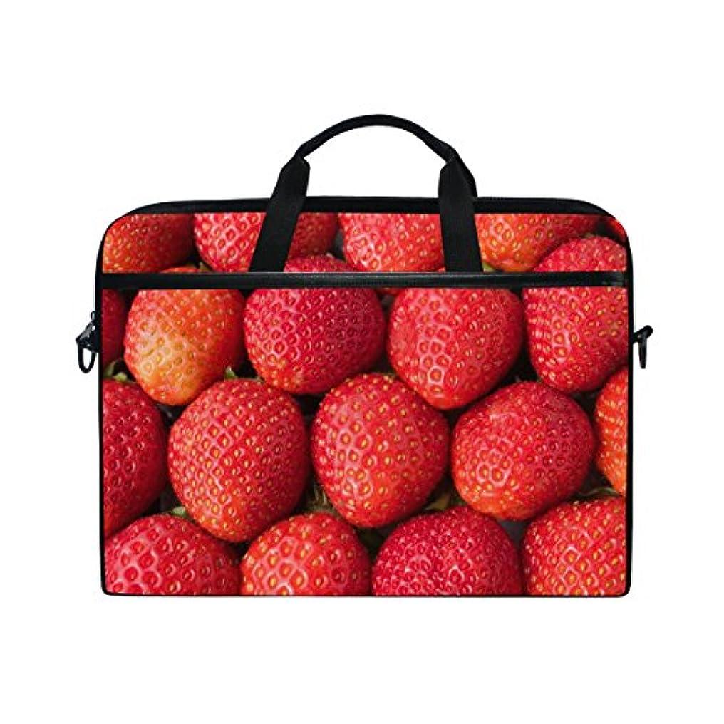 肉腫傾く学期UKIO(ユキオ) ビジネスバッグ パソコン収納 インナーバッグ 保護用スリーブカバー PCケース いちご 真赤 15.4インチ