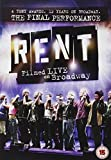 Rent: The Final Performance - Filmed Live On Broadway [DVD] [2009] by Michael John Warren