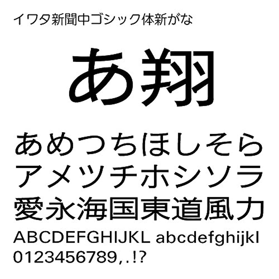 マウス租界ガレージイワタ新聞中ゴシック体新がなPro OpenType Font for Windows [ダウンロード]