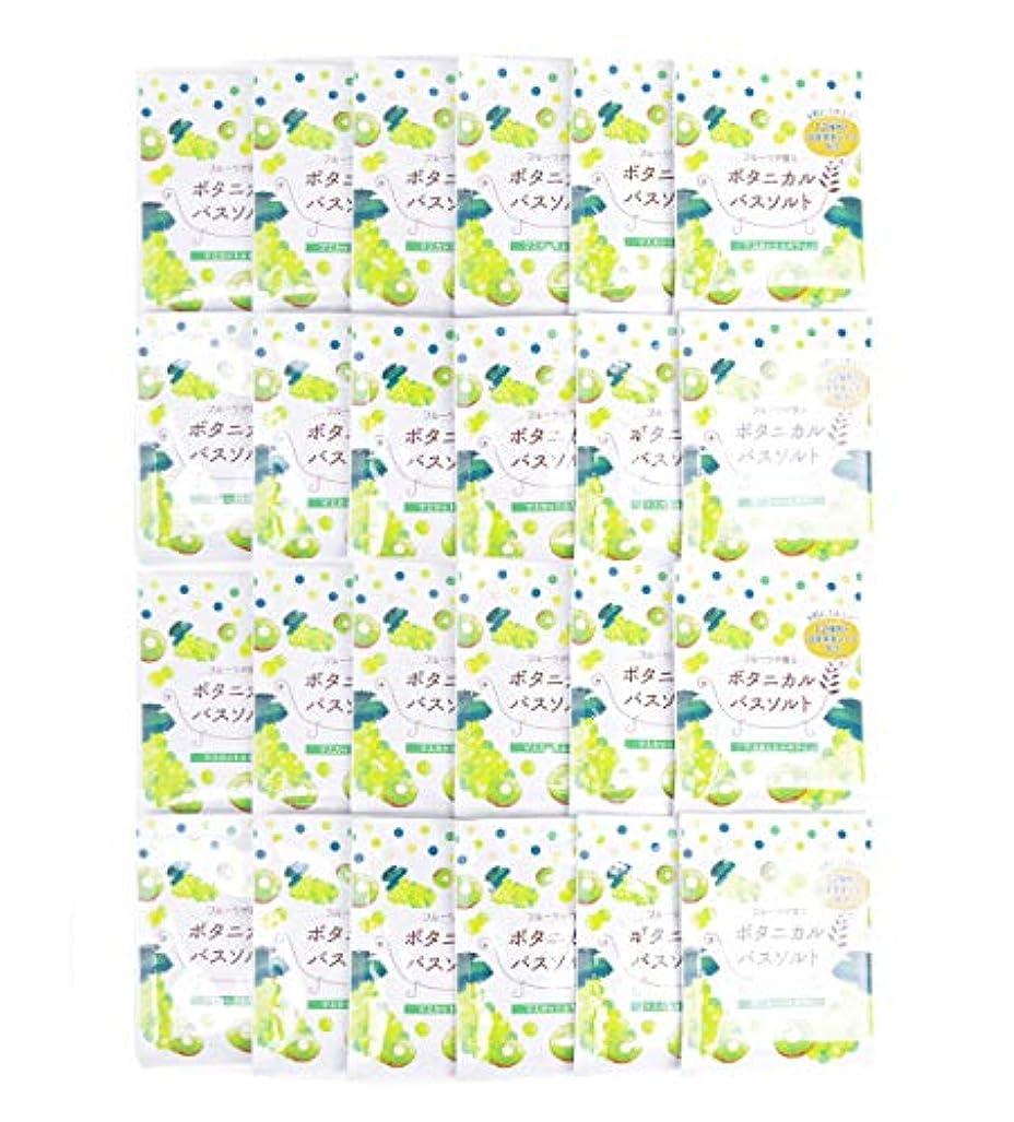 排他的戦闘グラフ松田医薬品 フルーツが香るボタニカルバスソルト マスカット&キウイ 30g 24個セット