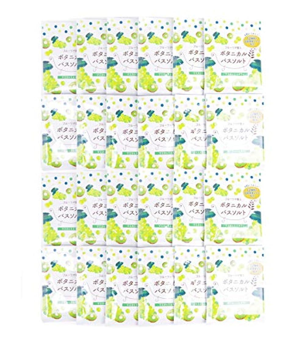 エレクトロニック与えるバックアップ松田医薬品 フルーツが香るボタニカルバスソルト マスカット&キウイ 30g 24個セット