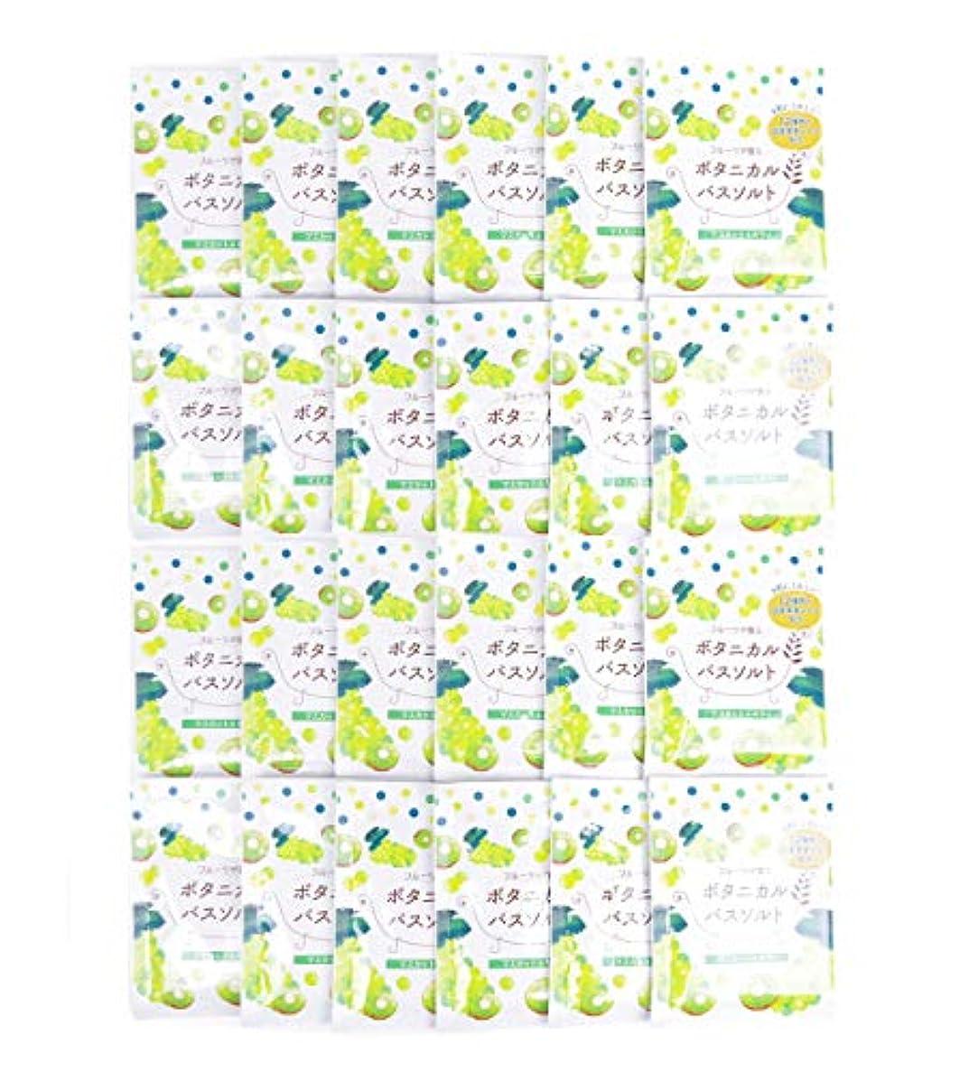 歴史的ピュー誰松田医薬品 フルーツが香るボタニカルバスソルト マスカット&キウイ 30g 24個セット