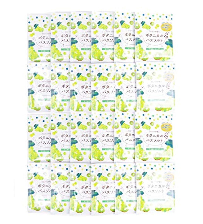 独立した安西ダース松田医薬品 フルーツが香るボタニカルバスソルト マスカット&キウイ 30g 24個セット