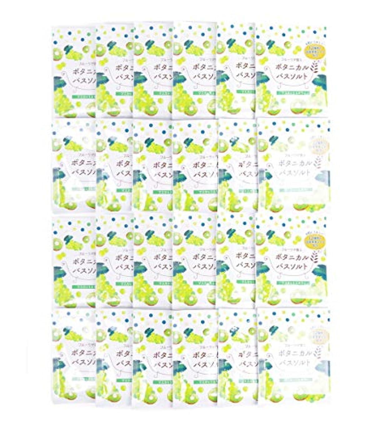 コードレス大学院自発的松田医薬品 フルーツが香るボタニカルバスソルト マスカット&キウイ 30g 24個セット
