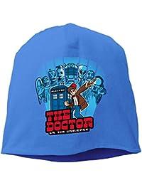 【Dera Princess】メンズ レディース ニット帽 The Doctor VS. The Universe 11th Editionロゴ コットン ニットキャップ 帽子 オールシーズン 被れる