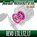 【Abu/アブ】 Revo レボ LTX LTZ LT用 軽量浅溝スプール Avail Microcast Spool RVLTX32RR (溝深さ3.2mm) ピンク