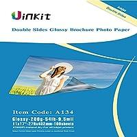 Uinkit 両面光沢フォト用紙 100枚 11x17インチ 9.5ミル 200g インクジェット印刷のみ