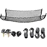 Cargo Net for SUV,Truck Bed or Trunk, 41 x 25 Inches Elastic Nylon Mesh Universal Rear Car Organizer Net, with Bonus Free Hoo