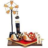 ちりめん 室内 鯉のぼり 宝来夫婦鯉 ポストカード特典付オリジナル五月人形 こいのぼり 高さ25cm リュウコドウ