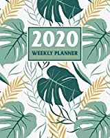 2020 Weekly Planner: Daily & Weekly 8x10 Organizer with Calendar Views and Inspirational Quotes | 2-Page Weekly Spreads | Tropic Paradise Theme