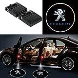 Alichee LED ドアカーテシランプ レーザーロゴライトドアウェルカムライト カーテシライト 2件套 (Peugeot)