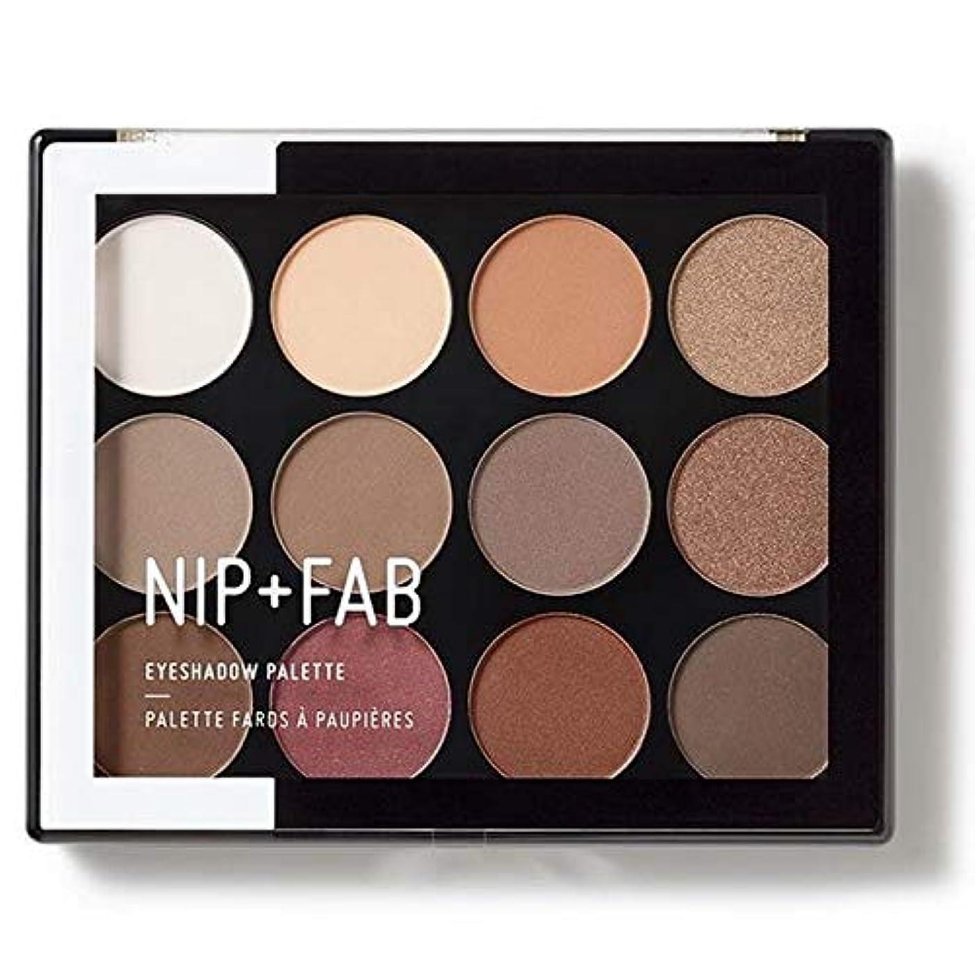 贅沢簡略化するアジア人[Nip & Fab ] アイシャドウパレット12グラムが1を彫刻作るFab +ニップ - NIP+FAB Make Up Eyeshadow Palette 12g Sculpted 1 [並行輸入品]