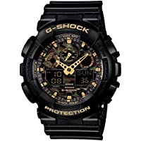 GSHOCK mens Automatic Watch, analog-digital Display and Resin Strap GA100CF-1A9