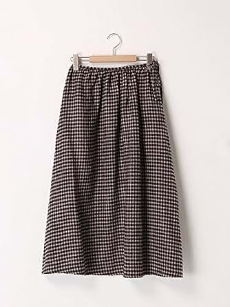 (サマンサモスモス)SM2 リネンギャザースカート ブラック F