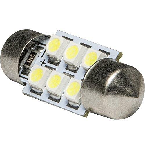 12V車用 SMD6連 T10×31mm LED球 単品