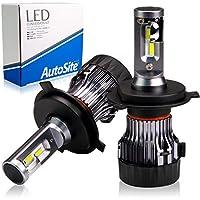 [ AutoSite ] LEDヘッドライト H4 ホワイト 白 AS55 / 6500k ハイビーム ロービーム CREE 12v オートサイト