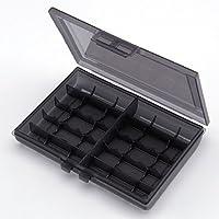 サンワダイレクト 電池ケース 単3電池 単4電池 各最大10本収納 200-BT005BK