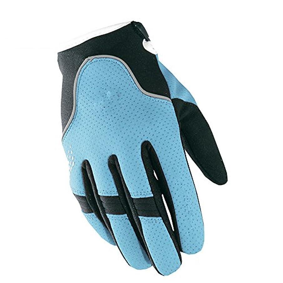 不足クルー振り向くフルフィンガーバイク通気性手袋登山用ハイキング狩猟釣りサイクリングアウトドアスポーツ (色 : 青, サイズ : XXL)