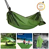 Multifunction Camping Hammock, 4 in 1 Outdoor Camping Hammock - Multifunction Waterproof Hammock Rain Fly Tent Tarp - Camping Blanket - Raincoat for Camping Picnic Blanket Hiking Outdoors Activities
