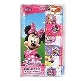 Disney ディズニー ミニーマウス 女の子 パンツ ショーツ7枚セット 並行輸入品 (2T/3T)