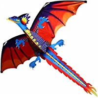 JetkyShop新しいClassical Dragon Kite 140 cm x 120 CM Single Line with Tail with handle and line Good Flying Kites