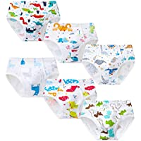 Growth Pal Little Boys' Underwear Briefs Soft 100% Cotton 6 Pack Kids Underwear Toddler Undies