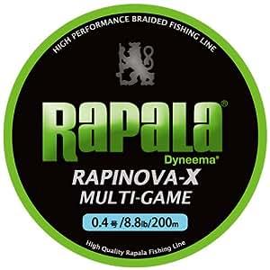 ラパラ(Rapala) ラピノヴァX マルチゲーム 200m 0.4号 8.8lb ライムグリーン Rapinova-X Multi Game 200M . RLX200M04LG