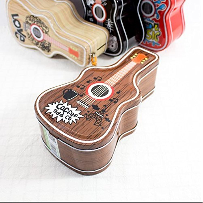 HuaQingPiJu-JP ヒップホップギターピギーバンク驚くほどのティンプレートキャンディージャーロック(ブラウン)