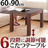 こたつテーブル ダイニングこたつ 長方形 スクット 90x60cm ハイタイプ こたつ本体のみ