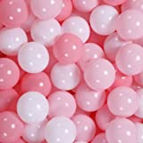 GOGOSO Ball Pit Balls 100 PCS for Toddles, Kids Plastic Balls for Ball Pit , Pool, Pink Party Accessories, Birthday Decoratio