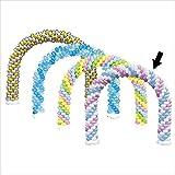 バルーンアーチ白×ピンク×ライトブルー イベント 福引 おまつり 販促 縁日