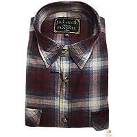 Men's Button Up Flannelette Shirt Check 100% Cotton Flannel Vintage S-6XL New