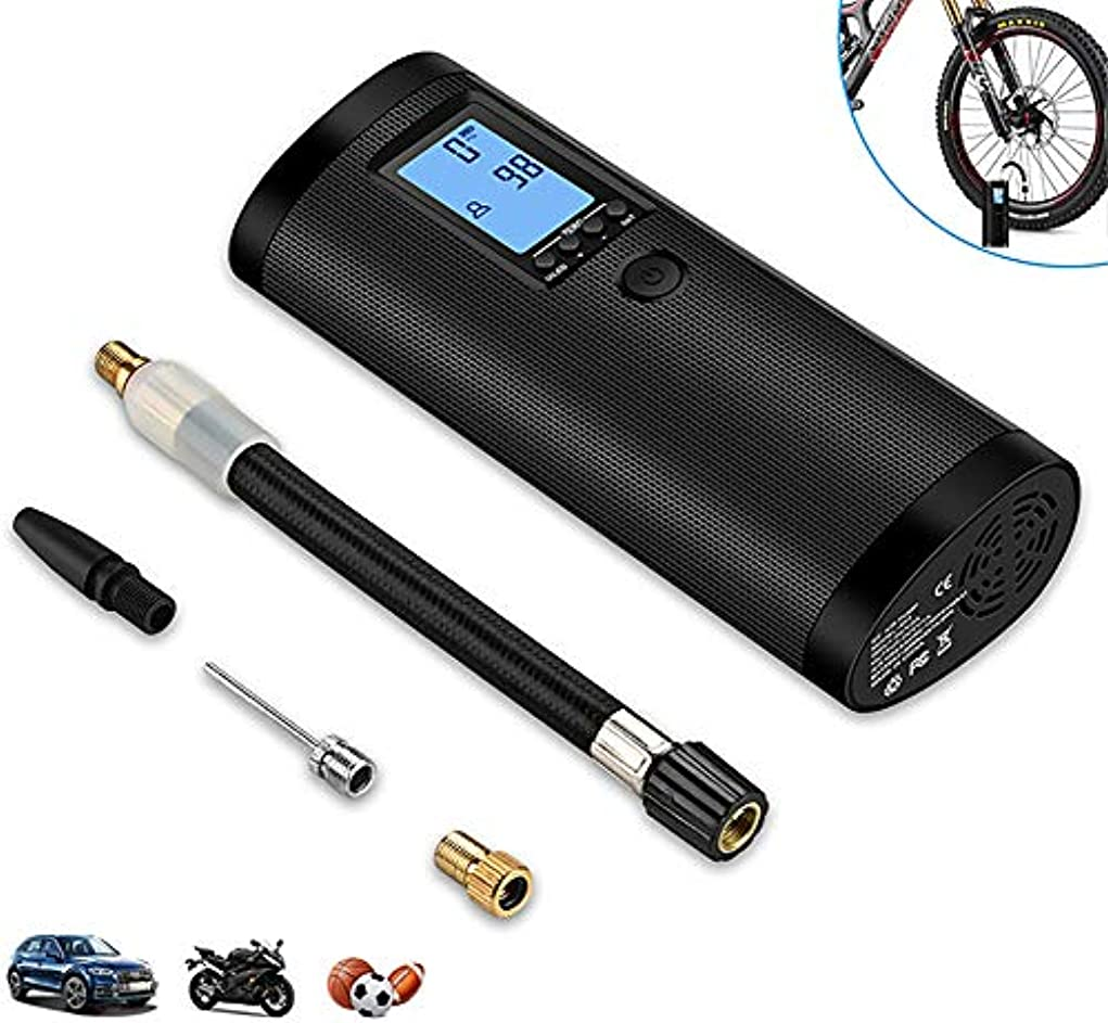 緊張面白いに向けて出発電気空気ポンプ、 知的な LCD エアコンプレッサ、 と LEDナイトライト、 5V ポータブル タイヤ インフレーター、 に適用する 自転車 オートバイ インフレーター、 5.8×15×3.5cm