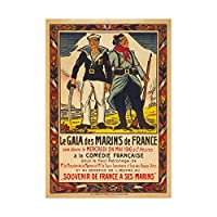 Ad Charity Event French Marines France Picture Wall Art Print チャリティーフランス語マリンフランス画像壁