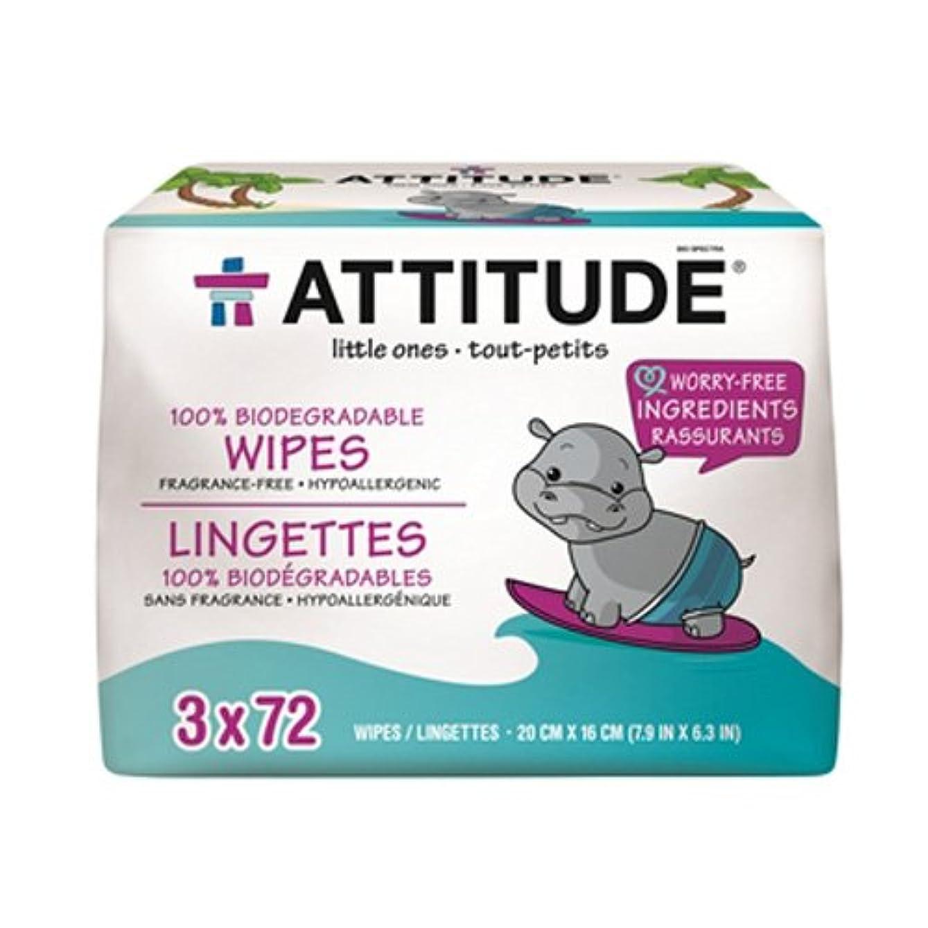 謙虚な相対サイズ変換Attitude Baby Wipes Refill 3 x 72 / ????????????????3 ラ72