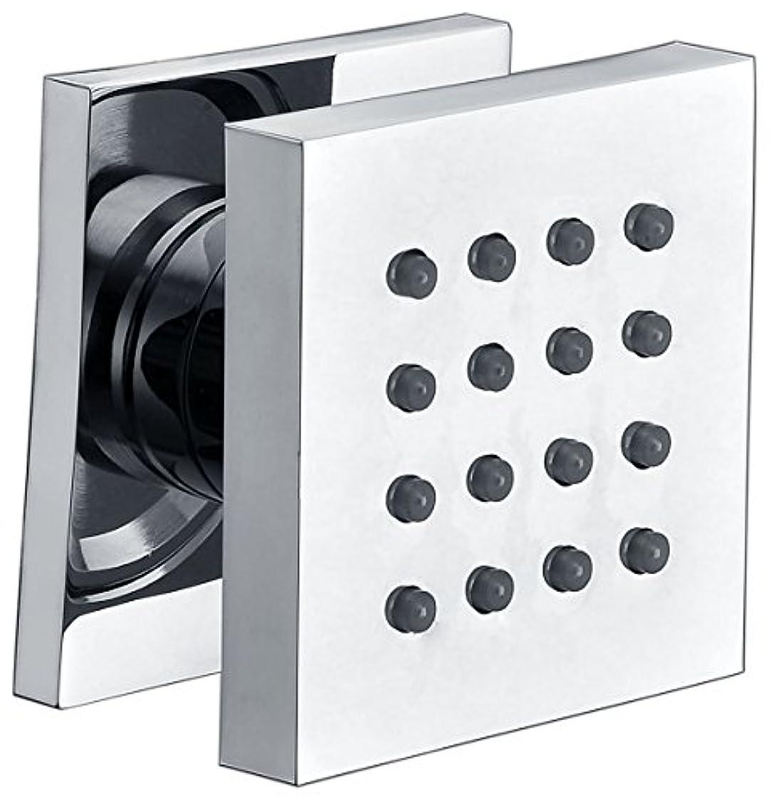 オーナーパリティレインコートAlfiブランドab4501モダン正方形調整可能シャワーボディスプレー AB4501-PC 1
