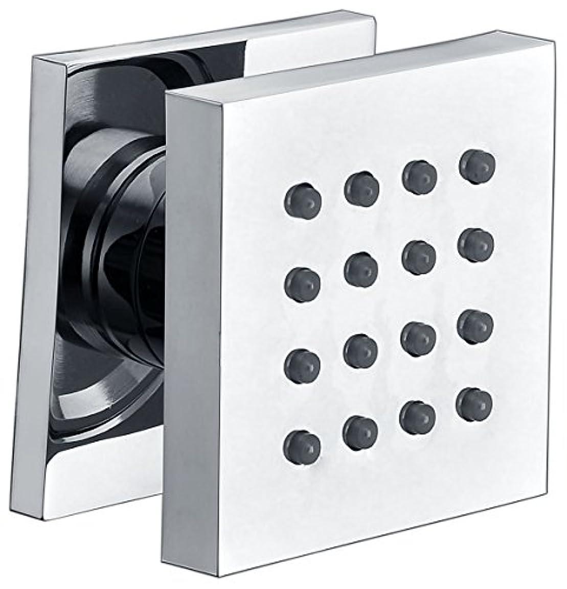 財政頑丈委員長Alfiブランドab4501モダン正方形調整可能シャワーボディスプレー AB4501-PC 1