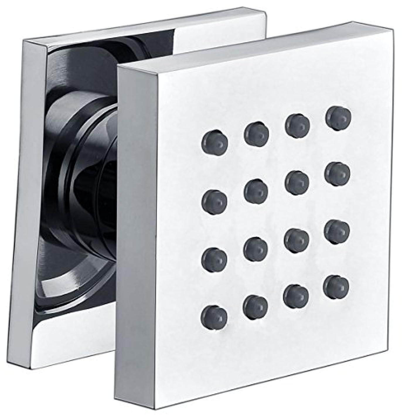 セントちっちゃい気配りのあるAlfiブランドab4501モダン正方形調整可能シャワーボディスプレー AB4501-PC 1