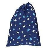 うわぐつ袋 紺×星柄 男の子 女の子 巾着袋 中 ハンドメイド 日本製