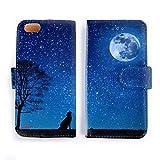 iPhone6 ケース 手帳型 宇宙の中の月と地球 星空/宇宙コレクション おしゃれ シンプル かっこいい アイフォン カバー スマホケース アイホン A70-6
