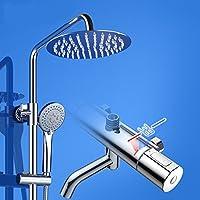 シャワーヘッド インテリジェント温度制御サーモスタットシャワーセット水浴スイートの下に銅 FU man li ( サイズ さいず : ラウンドセクション )