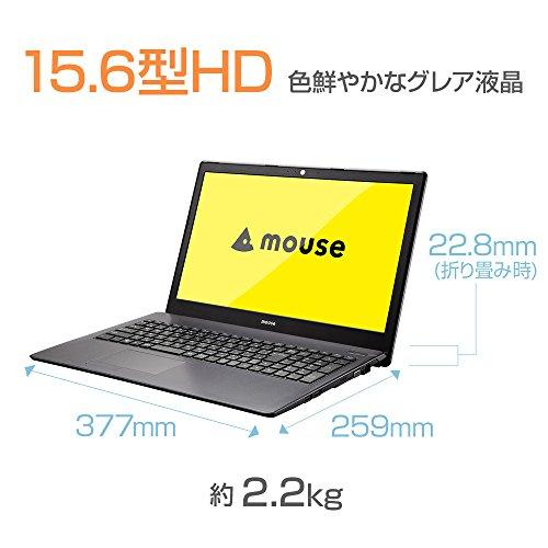 mouse ノートパソコン MB-B502E Windows 10/Celeron N3160/15.6インチ/4GBメモリ/240GB SSD