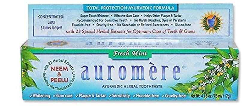 オーロメア アーユルヴェーダ ハーバル歯磨き粉 フレッシュミント 117g 海外直送品 [並行輸入品]