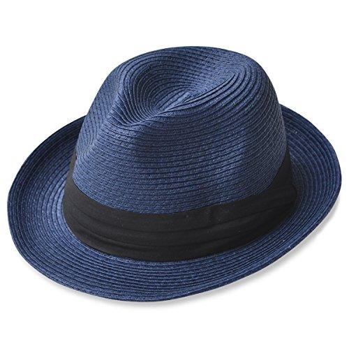 (エッジシティー)EdgeCity 折りたたみ可能 大きいサイズ メンズ 麦わら帽子 ストローハット LL 63cm 000319-0016-63