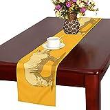 GGSXD テーブルランナー すばしこい サイ クロス 食卓カバー 麻綿製 欧米 おしゃれ 16 Inch X 72 Inch (40cm X 182cm) キッチン ダイニング ホーム デコレーション モダン リビング 洗える