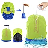 Waterproof Backpack Rain Cover with Stored Bag 30-40LAYAMAYA Lightweight Packable Durable Hiking Backpack Daypack Cover Elastic Adjustable Raincover Water Resist Cover for Travel Backpack -Green [並行輸入品]
