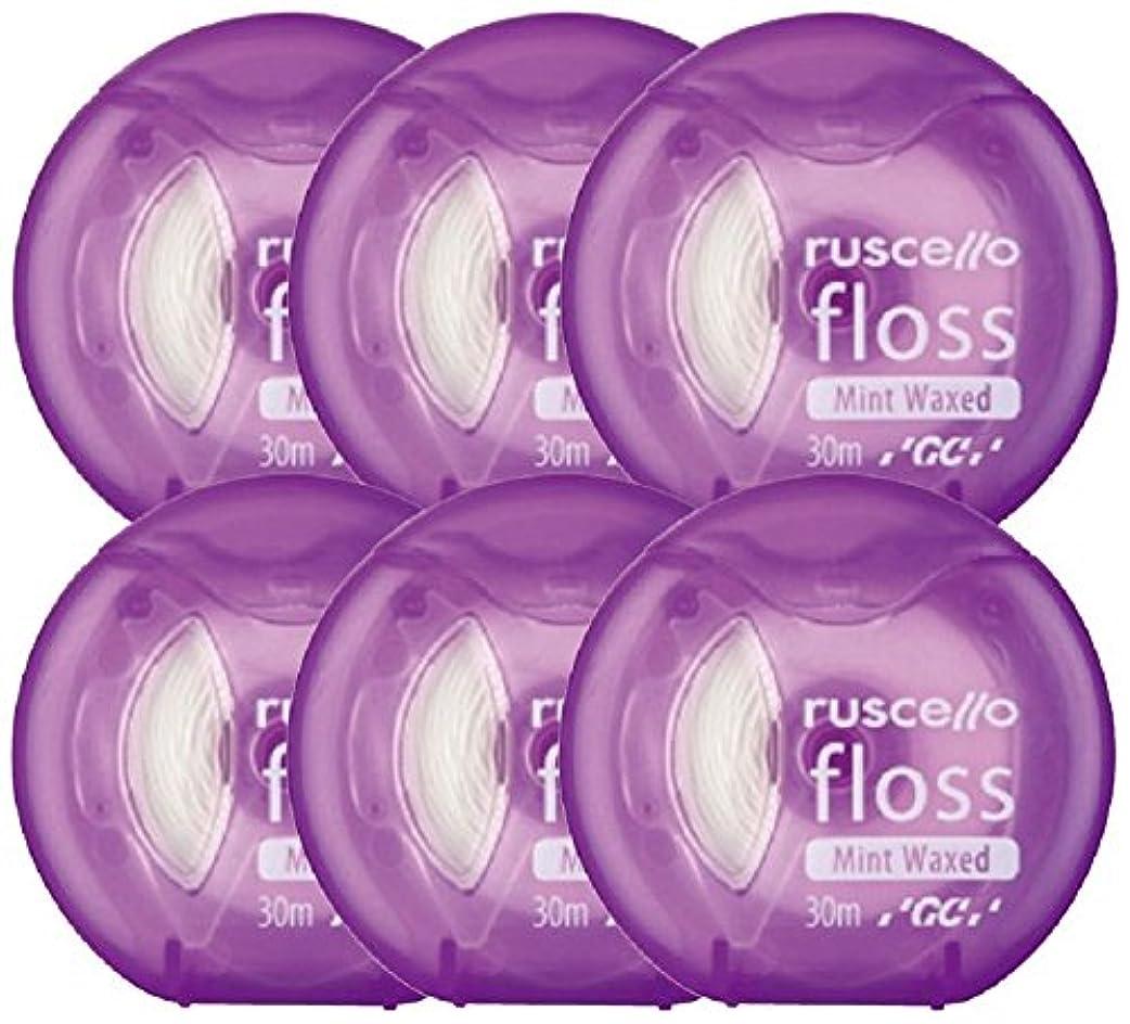 隣人貨物忙しいジーシー(GC)歯科用ルシェロ フロス ミントワックス 6個 パープル