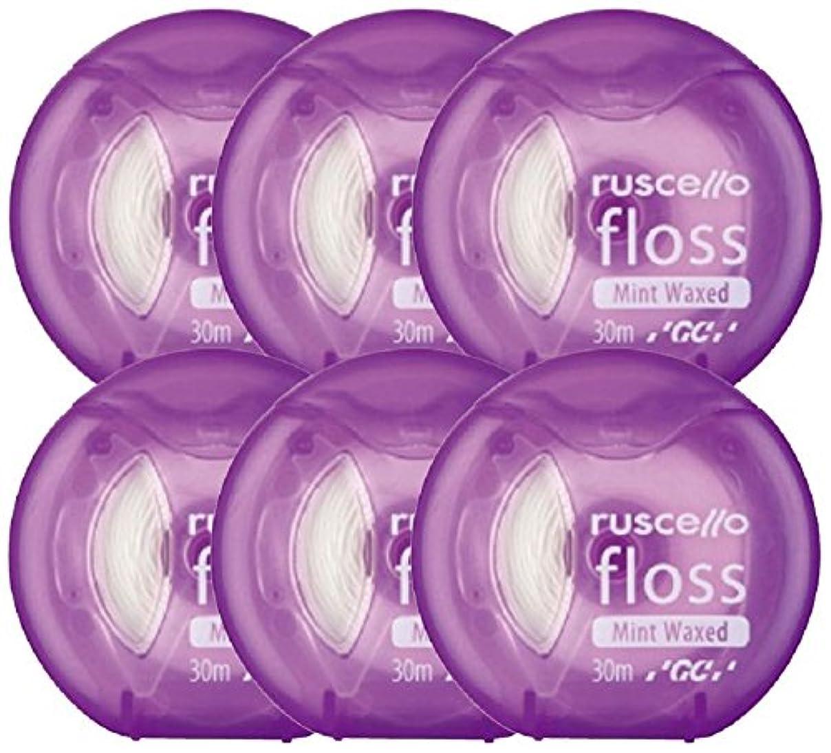 ロバヒューム胚ジーシー(GC)歯科用ルシェロ フロス ミントワックス 6個 パープル