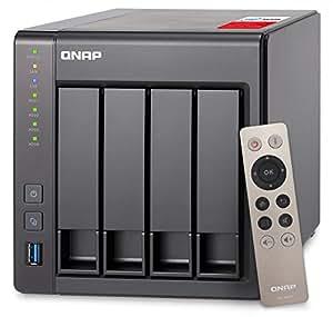 QNAP(キューナップ) TS-451+ 専用OS QTS搭載 intelクアッドコア2.0GHz CPU 2GBメモリ 4ベイ ホーム/SOHO向け プライベートクラウド機能対応 NAS 2年保証